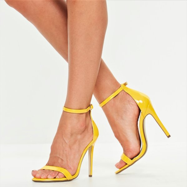Жълти сандали с каишки SUMMER MOOD